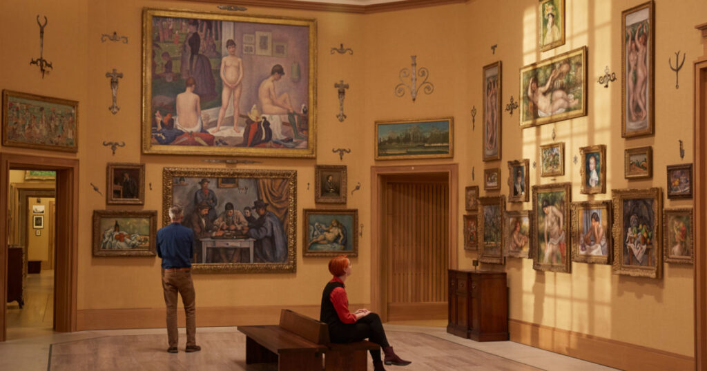 Paintings at the Barnes Foundation building