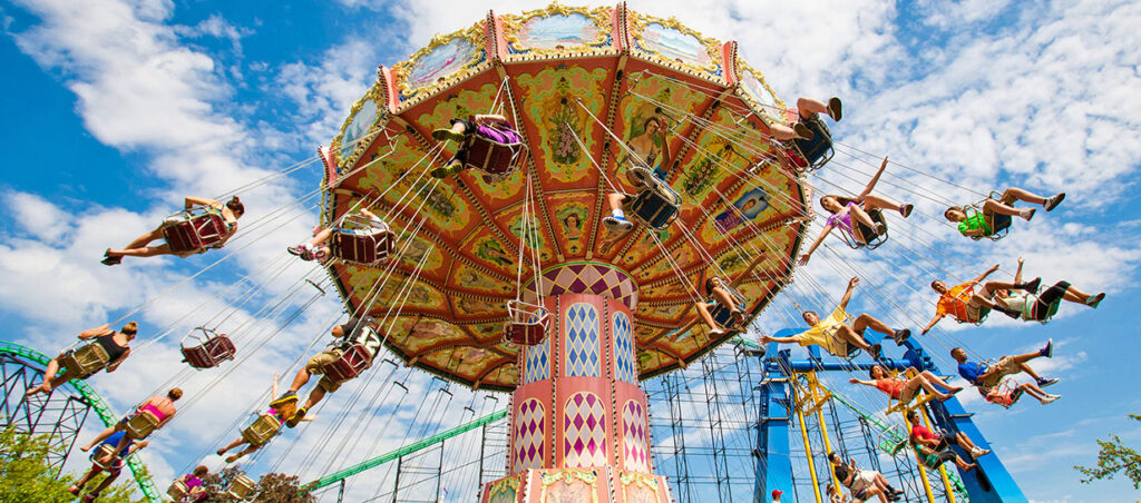 Amusement park rides at Kennywood, PA