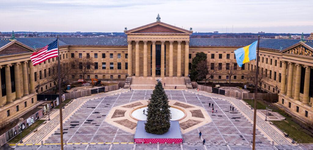 architecture at the Philadelphia museum of art