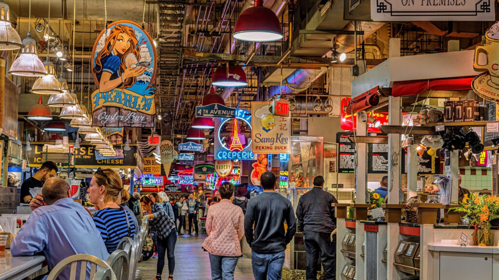 Shopping at the Reading Terminal Market in PA