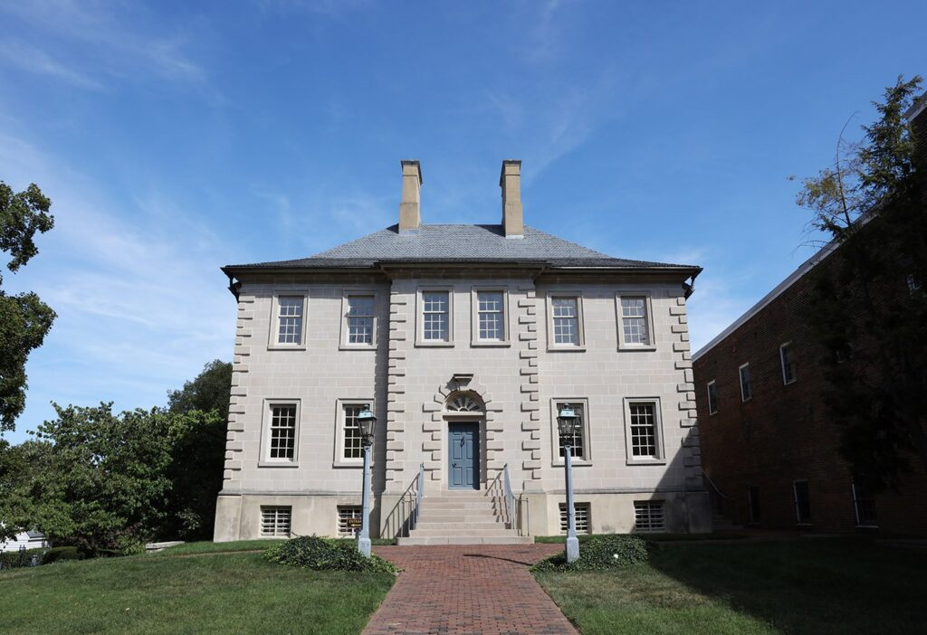 Carlyle House in Old Town Alexandria, Virginia.