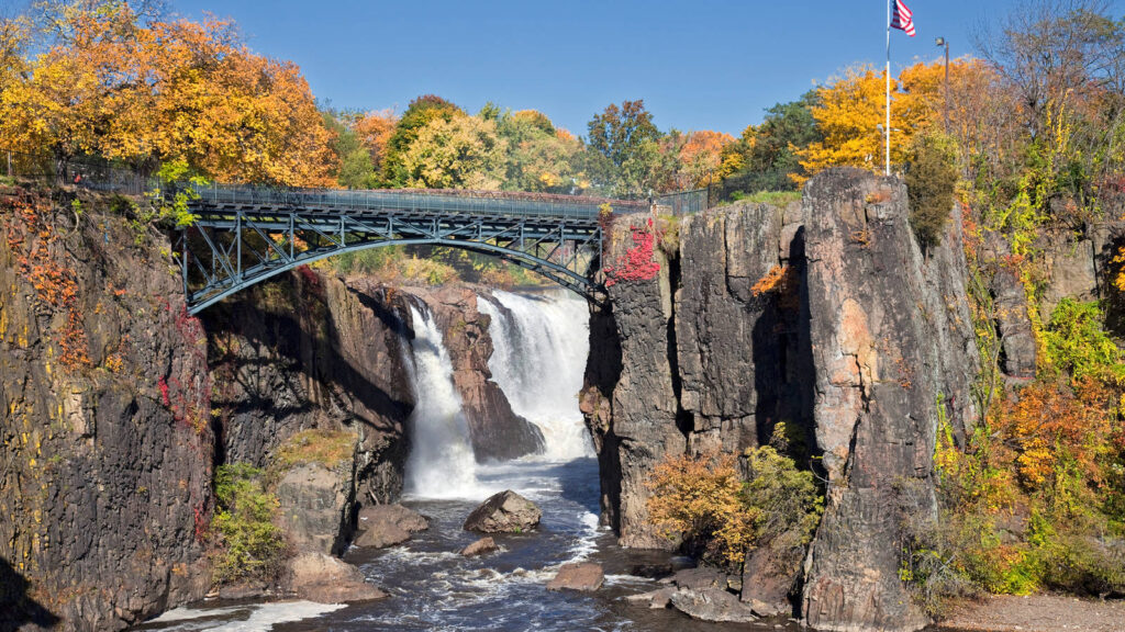View of Great Falls National Historical Park in New Jersey